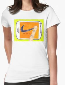 Just Post It Womens Fitted T-Shirt