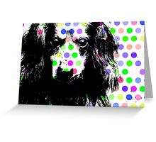RAIK, Dackel in Farbe, dog with bubbles Greeting Card
