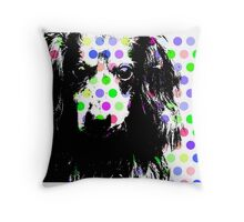 RAIK, Dackel in Farbe, dog with bubbles Throw Pillow