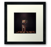 Sunrise in the middle of the night.  Framed Print