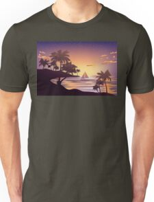 Tropical Island at Sunset 3 Unisex T-Shirt