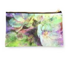 Pink and Green Floral Abstract Studio Pouch