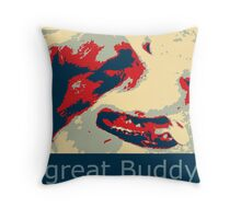 Mats the great buddy of the Wold, dog, pets, Throw Pillow