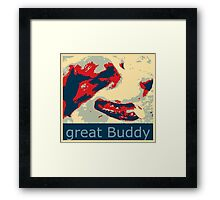 Mats the great buddy of the Wold, dog, pets, Framed Print