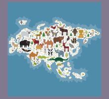 Eurasia Animal Map Kids Tee