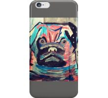 Abstract painted pug items  iPhone Case/Skin