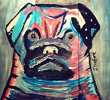 Abstract painted pug items  by JoeJoeT