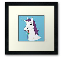 Dumb Unicorn  Framed Print