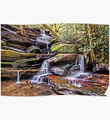 Somersby Lower Falls - Brisbane Water National Park Poster