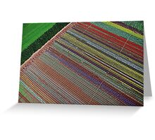 Tulip Table Cloth (Aerial view of tulip field) Greeting Card