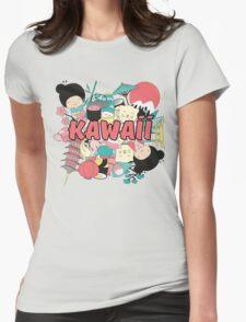 Kawaii Japanese Style Cuteness Design  Womens Fitted T-Shirt
