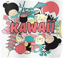 Kawaii Japanese Style Cuteness Design  Poster