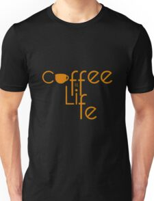 Coffee is Life Yellow Typography Unisex T-Shirt