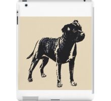 Staffordshire Bull Terrier - Conte Style iPad Case/Skin