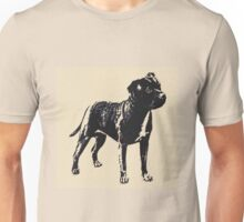 Staffordshire Bull Terrier - Conte Style Unisex T-Shirt