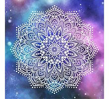 Mandala - white galaxy Photographic Print