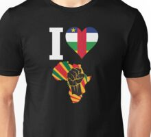 I Love Africa Map Black Power Central Africa RepublicFlag T-Shirt Unisex T-Shirt