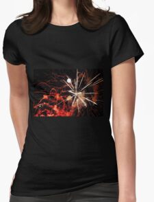 A Flash of Fireworks Womens Fitted T-Shirt