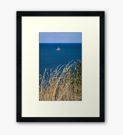 Boat at Sea 1 Framed Print