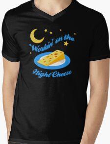 Night Cheese Mens V-Neck T-Shirt