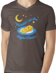 Night Cheese Mens V-Neck T-Shirt