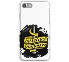 Mischief Managed - Hufflepuff Style iPhone Case/Skin