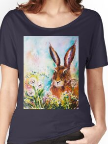 Dandelion Hare Women's Relaxed Fit T-Shirt