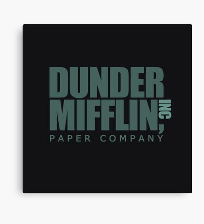 Dunder Mifflin Paper Company Canvas Print