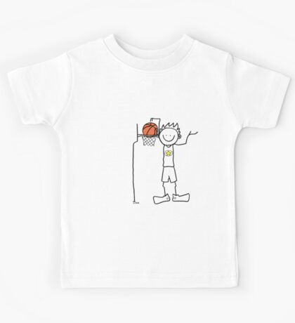 Slam dunk by a very tall basketball player - FOR LIGHT COLORED BACKGROUND Kids Tee
