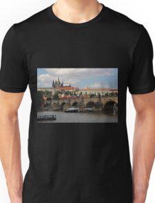 Prague Caste and Charles Bridge Unisex T-Shirt