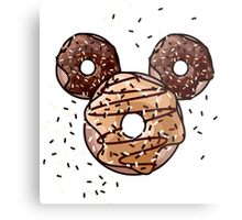 Pop Donut - Carmel & Chocolate Metal Print