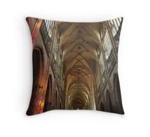 Prague St. Vitus Cathedral Interior Throw Pillow