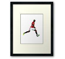 Paul Pogba Manchester United (T-Shirt, Phone Case & More)  Framed Print