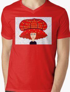 20th Century English Boudoir Hat Mens V-Neck T-Shirt