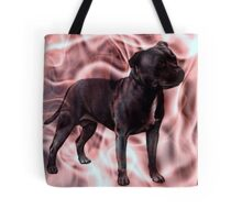 Staffordshire Bull Terrier - Pink Smoke Tote Bag