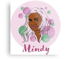 Mindy Kaling Metal Print