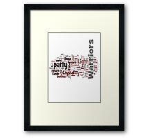 Final Fantasy III Word Cloud Framed Print