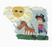 Pirate Boy Aaron and the Mystery of the Space Princess Kids Tee