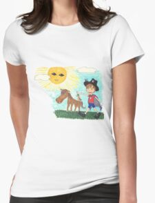 Pirate Boy Aaron and the Mystery of the Space Princess Womens Fitted T-Shirt