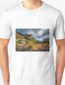 Stormy skies and the mountain Unisex T-Shirt