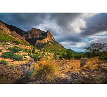 Stormy skies and the mountain Photographic Print