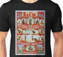 Performing Arts Posters The great Victorina Troupe originators and presenters of the most marvelous sword swallowing act on earth 1992 Unisex T-Shirt