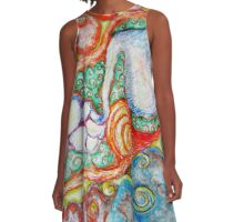 Intestines A-Line Dress