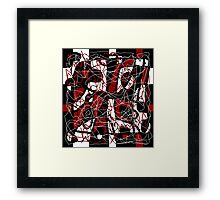 Red abstract pattern Framed Print