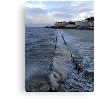 The Causeway at Weston-super-Mare Canvas Print