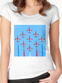 Red Arrows - 50th Display Season Women's Fitted Scoop T-Shirt