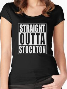 Nate Diaz Nick Diaz, Straight Outta Stockton Women's Fitted Scoop T-Shirt