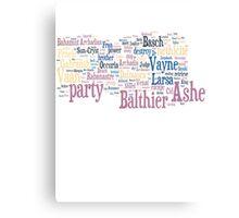 Final Fantasy XII Word Cloud Canvas Print
