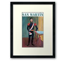 San Martin por Diego Manuel Framed Print