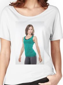 Fitness, sport, training women in sport clothing Women's Relaxed Fit T-Shirt